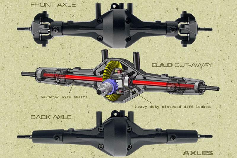 Axial Racing Scx10 4wd Dingo Kit Rc Rock Crawlers